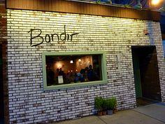 Bondir, Cambridge, MA. Amazing log fire and wonderful food