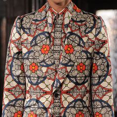 Alexander McQueen AW13 stained glass print