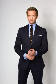 Barney Stinson Suit - How I met Your Mother - This suit is in a gorgeous navy, you can imagine this fitted suit being worn for both work but also being dressed up with a brighter shirt and tie for occasions