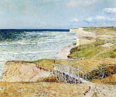 Montauk   -     Frederick Childe Hassam, 1921.  American,1859-1935  oil on canvas,  50.8 cm (20 in.) x 24 cm (9.45 in.)