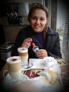"BUENOS DÍAS!!! Desayunando en ""Canela Doce"" #ricocafe para comenzar con fuerza un #diaperfecto con #tamaywili"