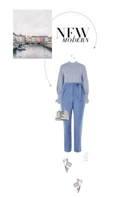 """Blue & Silver."" by xabbielou ❤ liked on Polyvore featuring Topshop, Jimmy Choo and GET LOST"