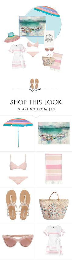 """""""Beach Fashion"""" by onesweetthing ❤ liked on Polyvore featuring Sunnylife, Lisa Marie Fernandez, Linum Home Textiles, Head Over Heels by Dune, STELLA McCARTNEY and Missoni"""