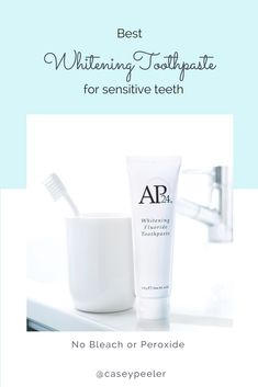 Whiten your teeth with your daily toothpaste. It brightens and whitens teeth wh. Ap 24 Whitening Toothpaste, White Teeth, Anti Aging Skin Care, Bleach, Nu Skin, Mint, Bossbabe, Beauty Products, Top