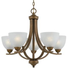 5-light Gold Finish Chandelier  @Overstock - This gorgeous five-light chandelier can either add a subtly modern touch to a traditional decorating scheme, or bring some timeless beauty to a contemporary room. Warm white alabaster shades harmonize beautifully with the fixtures aged gold finish.http://www.overstock.com/Home-Garden/5-light-Gold-Finish-Chandelier/5581075/product.html?CID=214117 $100.99
