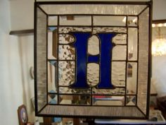Stained glass initial- A wedding present