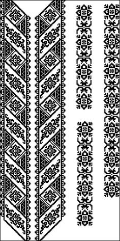 Beading _ Pattern - Motif / Earrings / Band ___ Square Sttich or Bead Loomwork ___ Folk Embroidery, Embroidery Patterns Free, Loom Patterns, Craft Patterns, Beading Patterns, Cross Stitch Embroidery, Embroidery Designs, Knitting Patterns, Beaded Cross Stitch