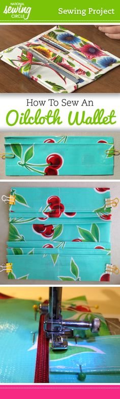 Looking for a fun sewing project? Check out National Sewing Circle's free guide, How to Sew an Oilcloth Wallet. #letssew