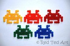 Space Invaders meet Hama Beads.