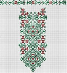 Beading _ Pattern - Motif / Earrings / Band ___ Square Sttich or Bead Loomwork ___ Creative Embroidery, Folk Embroidery, Embroidery Patterns Free, Beading Patterns, Cross Stitch Embroidery, Machine Embroidery Designs, Cross Stitch Patterns, Cross Stitch Borders, Cross Stitch Charts