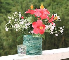 DIY: Sea Glass Vase and/or Candle Holder