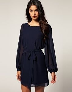 ASOS Shift Dress with Blouson Bell Sleeve - StyleSays