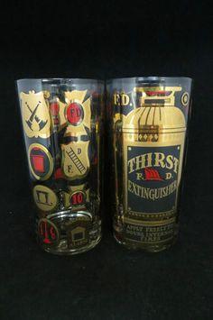 Georges Briard Set of 8 Thirst Extinguisher FD Tumblers