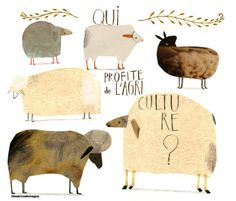 by Beatrice Alemagna #art #sheep
