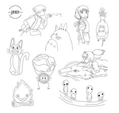 Tatuaje Studio Ghibli, Art Studio Ghibli, Studio Ghibli Tattoo, Burg Tattoo, Kritzelei Tattoo, Tattoo Drawings, Mini Tattoos, Body Art Tattoos, Small Tattoos