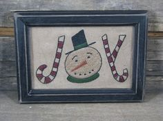 Primitive Christmas Sampler - Joy