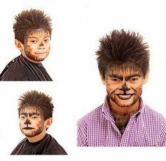 Maquillaje halloween de hombre lobo - Disfraz casero