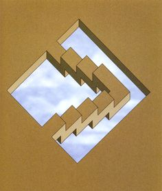 Oscar Reutersvard - Stairs Keeping Their Own Level