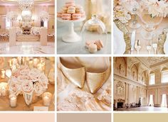 champagne soft pink wedding color reception - Google Search
