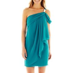 One-Shoulder Chiffon Dress - jcpenney