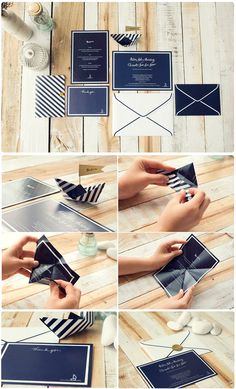 Nautical Wedding Invites : Made From Scratch---  ANdrea.. pinning this because of the boat.. neat idea...