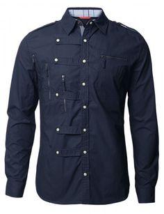 Doublju - Camisa Casual Gold Button (DAJ01) Compre roupas de qualidade, com design inovador e preço justo!