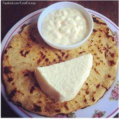 Güirila con cuajada y crema - plato  tipico de Esteli, Nicaragua via @EsteliEnLinea