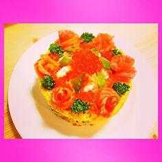 五目ちらし寿司ケーキ