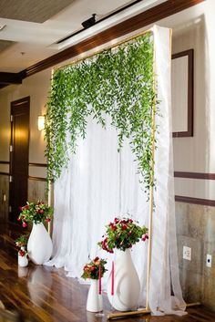 24 Wedding Backdrop Ideas For Ceremony, Reception and More ❤ Browse our wedding backdrop ideas gallery, find for yourself perfect paper or floral ideas with different colors and textures. See more: http://www.weddingforward.com/wedding-backdrop-ideas/ #wedding #bride #weddingdecoration #weddingbackdrop