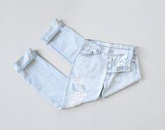 vintage distressed levis 501 jeans | 32 x 33
