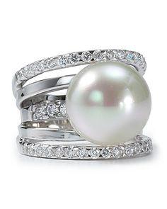 Majorica 5 Tier Pearl Ring
