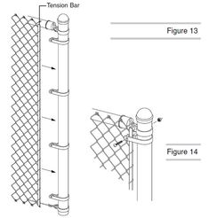 A Drawing Shows How To Install The Chain Link Fence On