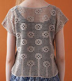 코바늘 도안 : 여름용 가디건 도안, 짧은 소매 가기던 패턴, 쉬워보이네요. : 네이버 블로그 Crotchet Dress, Crochet Shirt, Crochet Cardigan, Crochet Diagram, Filet Crochet, Crochet Lace, Knitting Patterns Free, Crochet Patterns, Knitting For Kids