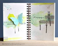 Journal Pages created by Joy Taylor using some Simon Exclusives and Supplies found in the Simon Says Stamp Store.