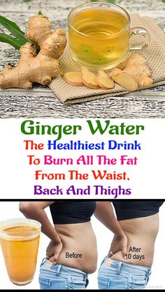 Ginger Water: The Healthiest Drink To Burn All The Fat From The Waist, Back And . - All lady health tips - Ginger water Healthy Drinks, Healthy Tips, Detox Drinks, Fruit Detox, Healthy Beauty, Fat Burning Drinks, Fat Burning Foods, Burning Water, Ginger Water Benefits