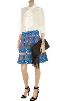 Roberto Cavalli Floral-print cotton skirt - 69% Off Now at THE OUTNET