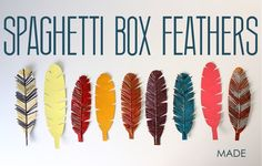 TUTORIAL: Spaghetti Box Feathers | MADE Turned out Awesome!  I didn't even repaint spaghetti and just use natural and whole wheat.
