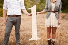 Big number for every anniversary year together since marriage