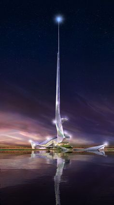The Constellation Tower, Concept Design, Doha, Qatar by Gensler Architects :: height 500m