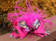 Over the Top Camo Hair Bow by RosiePosiesCloset on Etsy, $11.00