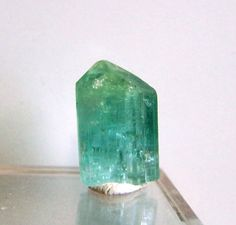 Blue Tourmaline Crystal  Green blue Tourmaline by CoyoteRainbow, $15.00