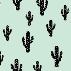 Cactus - Mint fabric by kimsa on Spoonflower - custom fabric