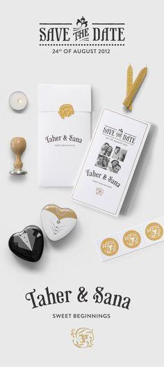 Wedding Invitation by Hani Abdul Ameer, via Behance..
