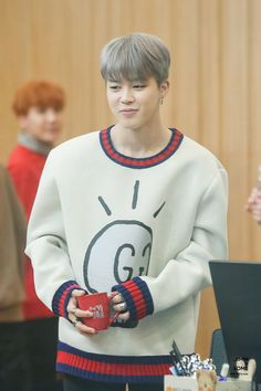 BTS   Jimin in his new expensive sweater from V