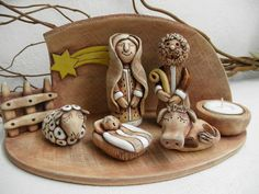 Christmas Clay, Christmas Nativity, Christmas Crafts, Hand Built Pottery, Slab Pottery, Nativity Crafts, Nativity Sets, Ceramic Shop, Holy Family