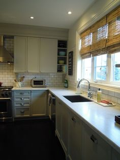 Just beachy: Finally our completed kitchen , from builder basic to dream kitchen