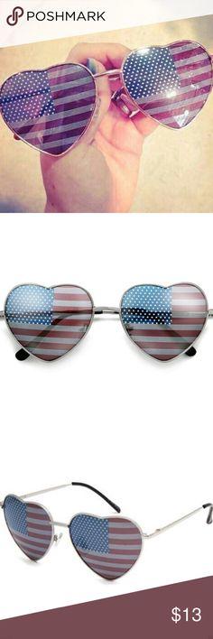 Heart shaped American flag sunglasses! So cute! Boutique. Latest  SunglassesCute SunglassesRay Ban ... a4f7be9b338c