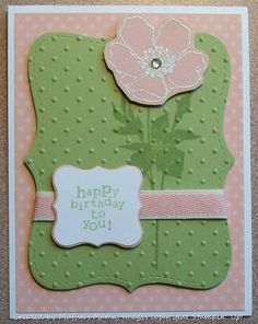Blushing Floret by Muffin's Mama - Cards and Paper Crafts at Splitcoaststampers