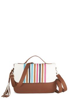 Dandy Striper Bag. Every day is a splendid day when you have this striped cross-body bag by Pepa Loves at your side! #multi #modcloth