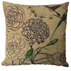 "Buankoxy Cotton Linen Square Throw Pillow Case Decorative Cushion Cover Pillowcase 18 ""X18 "" Flower and Bird Buankoxy http://www.amazon.com/dp/B00L9B02DE/ref=cm_sw_r_pi_dp_7Uhgvb0SJF8TR"